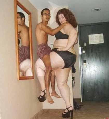 Zayıf Erkek Kilolu Kadın İlişkisi