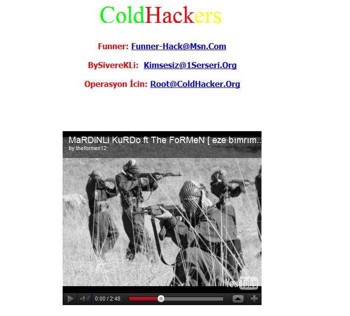 Kasım 2011 pkk nın maliye gov tr yi hacklemesi