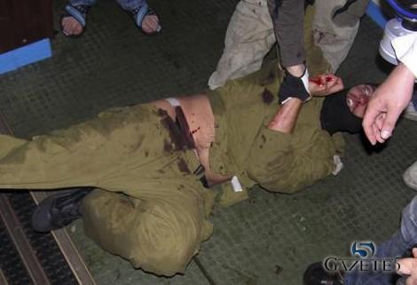 Tanga giyen israil askeri